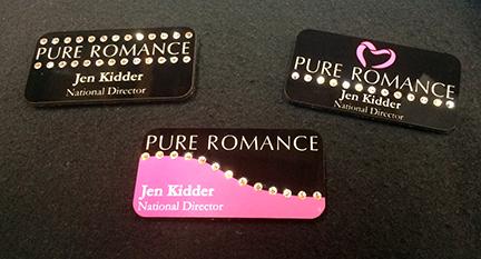 pure romance double line heart - Pure Romance Business Cards